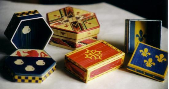 boîtes diverses