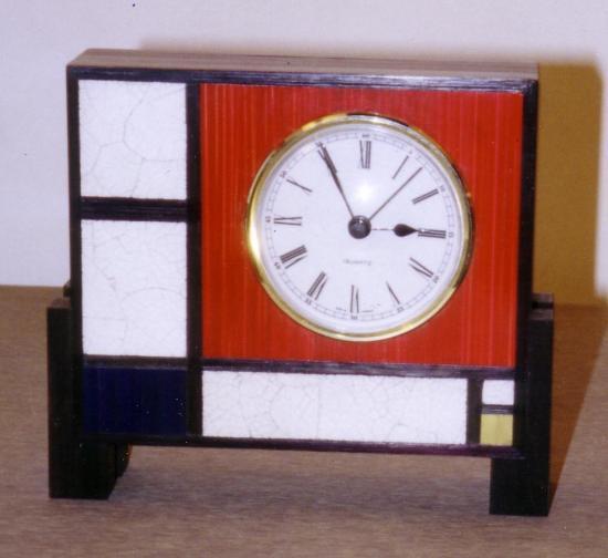 Pendulette façon Mondrian