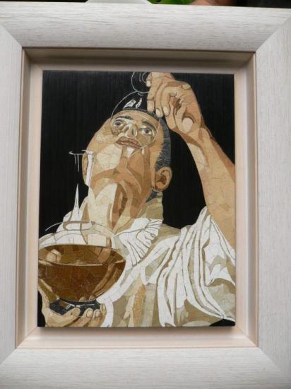 Jeune homme buvant, d'après Annibal Carrache (1560-1609)